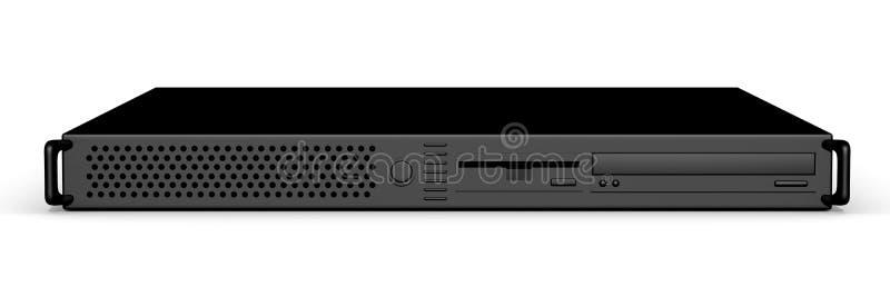Schwarzer Server 19inch stock abbildung