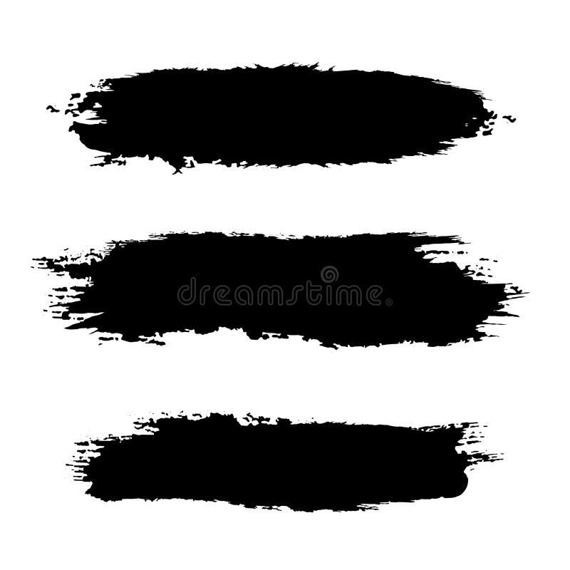 Schwarzer Spracheblasensatz Vektorschmutz Schwarze Formschablone Grunge Fahne lizenzfreie abbildung