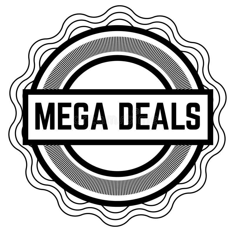 Schwarzer Stempel der MEGA- ABKOMMEN auf Weiß stock abbildung