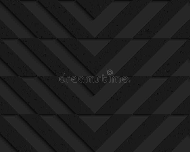 Schwarzer strukturierter Plastiksparren horizontal geschnitten lizenzfreie abbildung