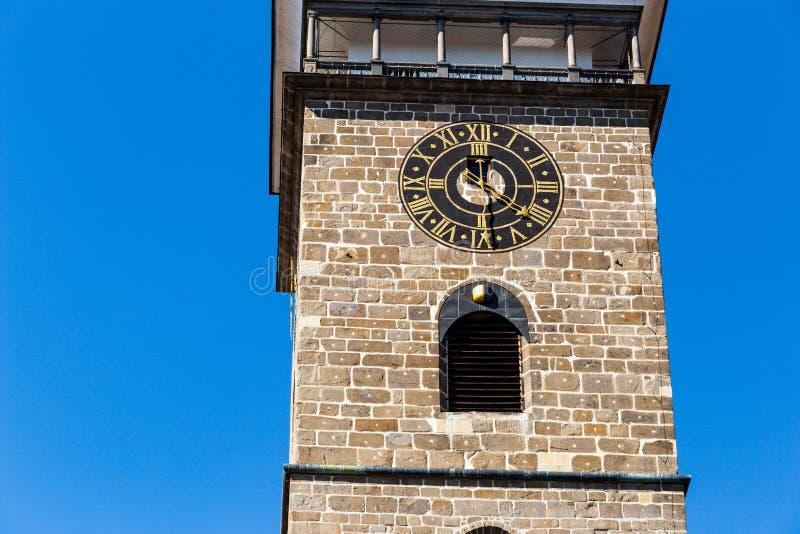 Schwarzer Turm in der historischen Mitte von Ceske Budejovice Tschechische Republik, Europa lizenzfreie stockbilder