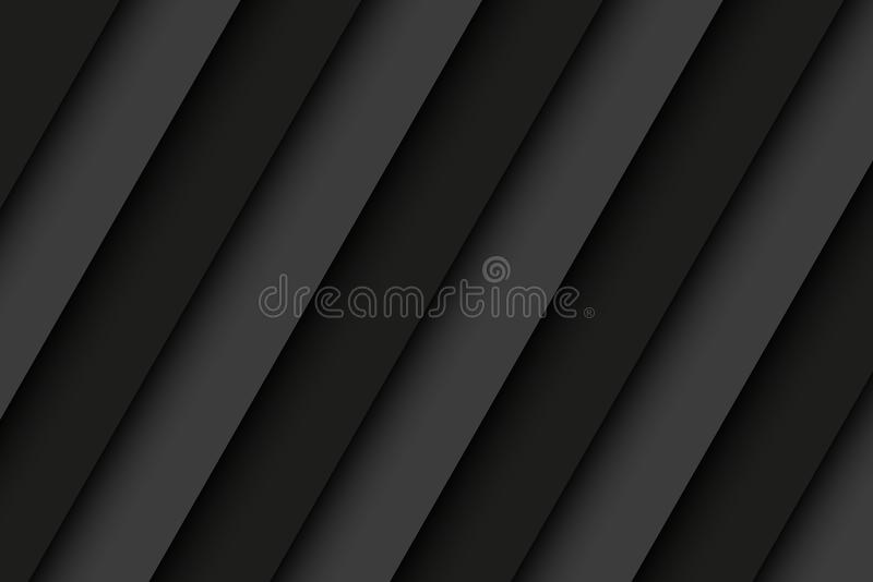 Schwarzer und grauer Edelstahlhintergrund mit Schrägstreifen lizenzfreie abbildung