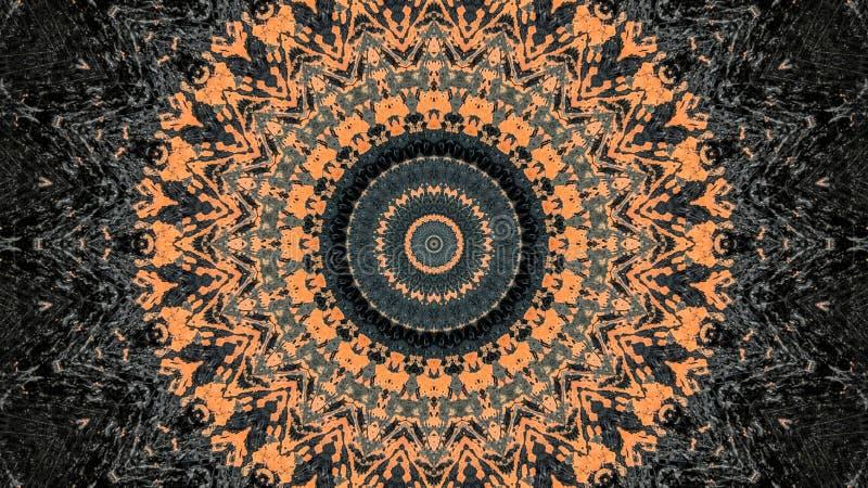 Schwarzer und orange gestreifter Schmutzzusammenfassungsentwurf vektor abbildung
