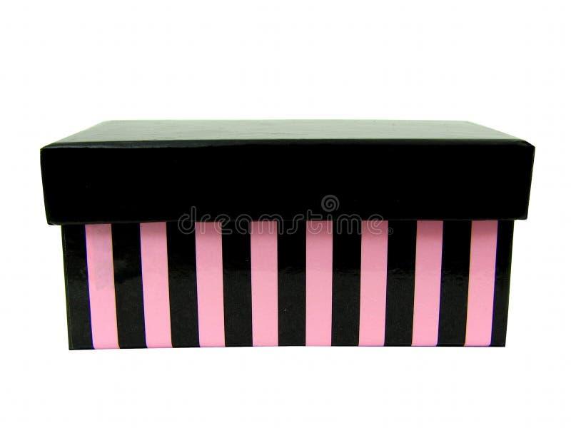 Schwarzer und rosafarbener Kasten 2 lizenzfreies stockbild