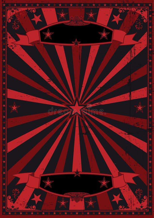 Schwarzer und roter grunge Hintergrund lizenzfreie abbildung