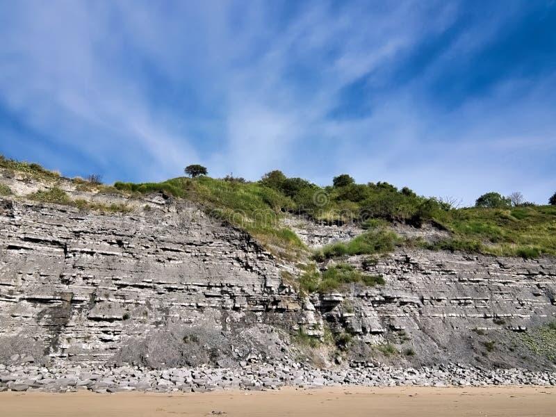 Schwarzer Ven Cliffs - Lyme Regis stockfotografie