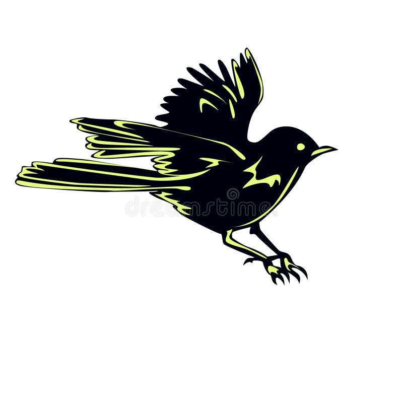 schwarzer vogel spatz im flug vektor abbildung illustration von spatz unbegrenzt 27166153. Black Bedroom Furniture Sets. Home Design Ideas
