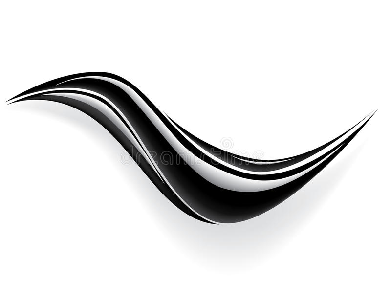 Schwarzer Wellenvektor vektor abbildung