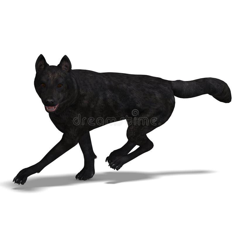 Schwarzer Wolf lizenzfreie abbildung