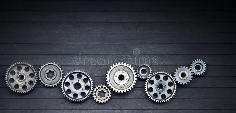 Schwarzer Zahn-Technologie-Industrie-Hintergrund stockfotos