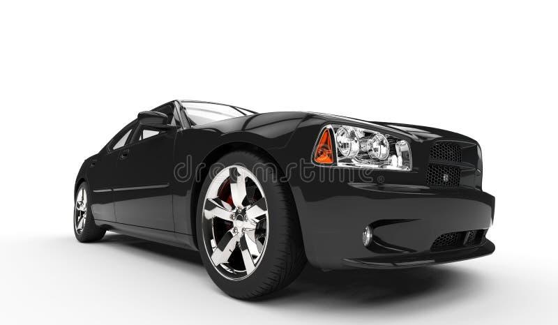 Schwarzes amerikanisches Auto stock abbildung