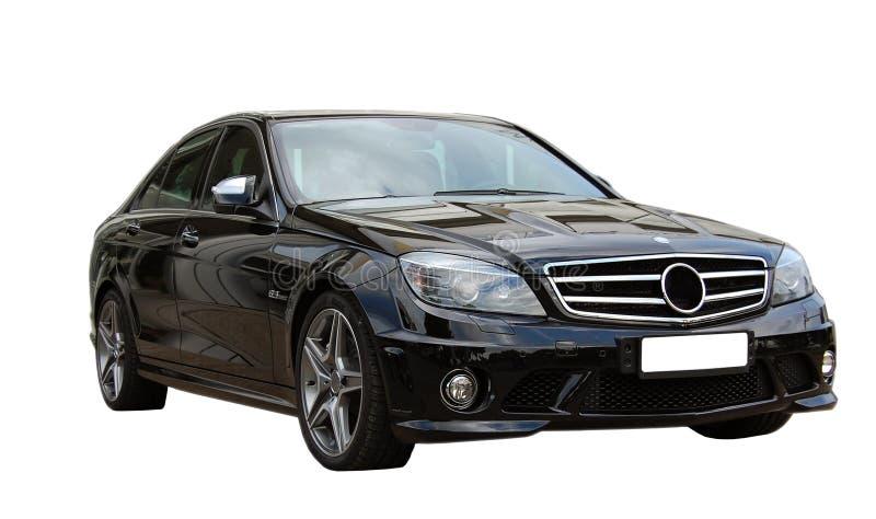 Schwarzes Auto AMG lizenzfreies stockbild