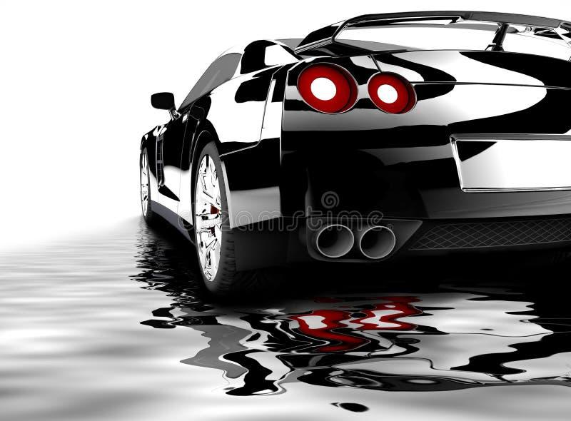 Schwarzes Auto reflektierte sich vektor abbildung