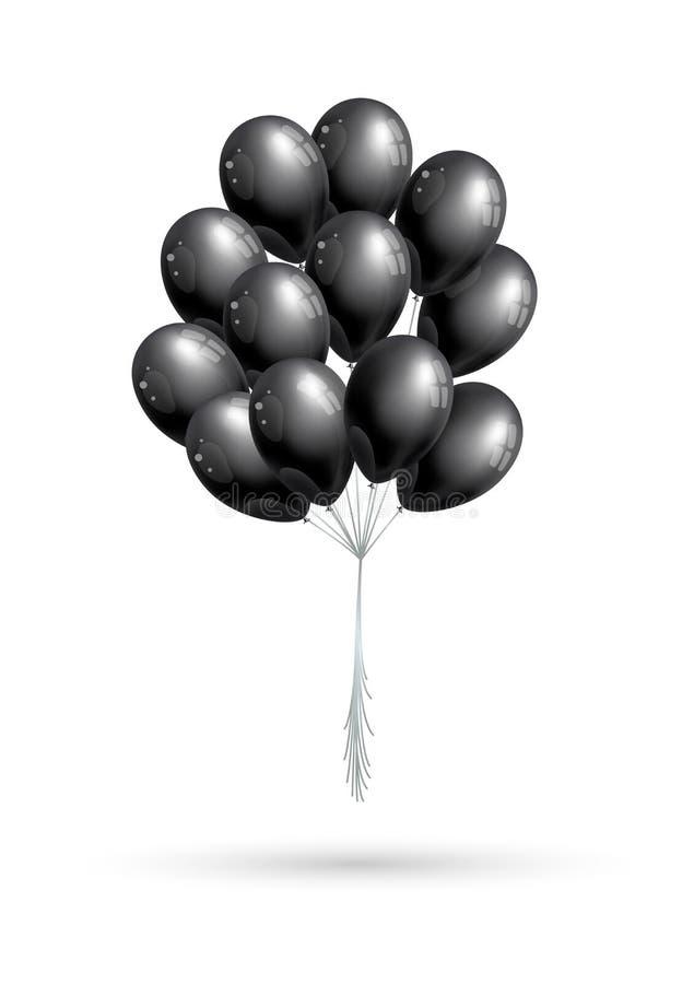 Schwarzes Ballonbündel vektor abbildung
