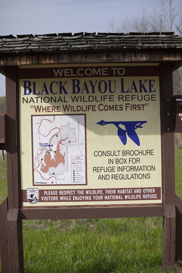 Schwarzes Bayou, das Bereichs-Zeichen jagt lizenzfreies stockfoto