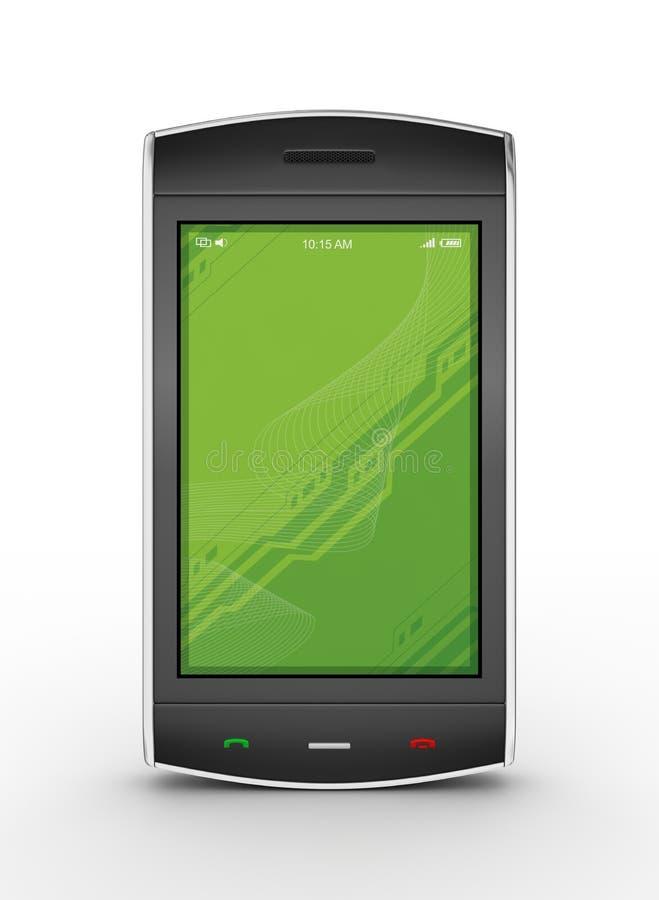 Schwarzes bewegliches smartphone vektor abbildung