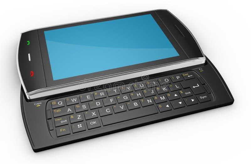 Schwarzes bewegliches smartphone - 3d übertragen vektor abbildung
