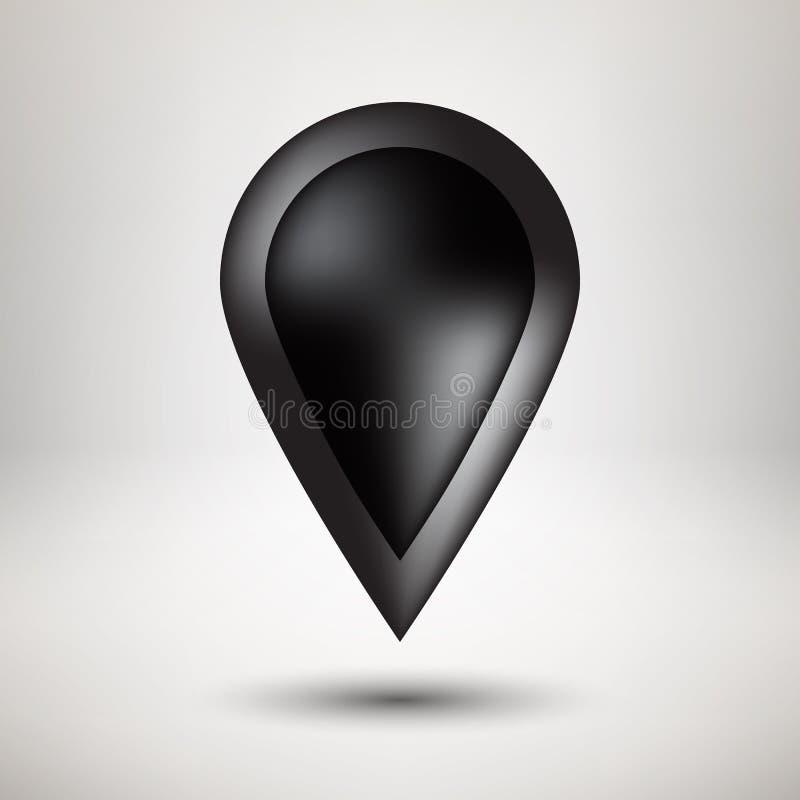 Schwarzes Blasen-Ikonen-Abzeichen mit hellem Hintergrund vektor abbildung