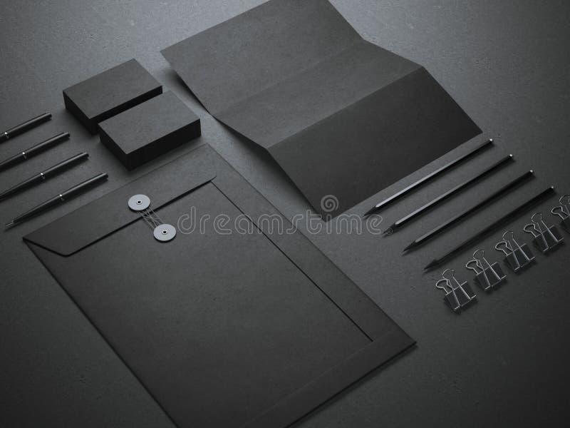 Schwarzes Branding Modell lizenzfreie stockfotos