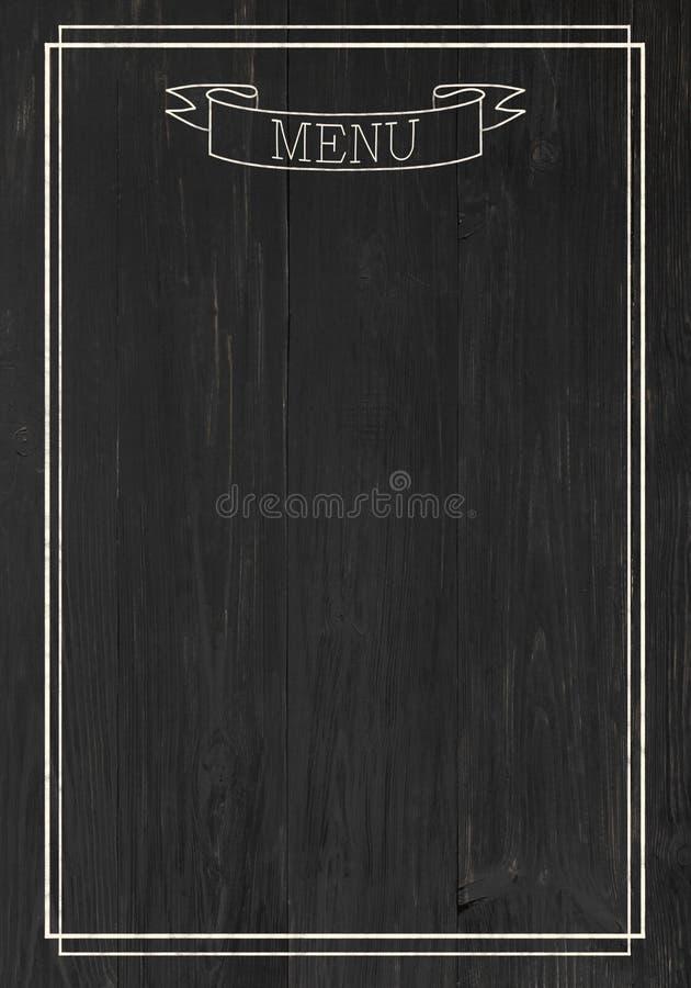 Schwarzes Brett als Modell für Restaurantmenü lizenzfreie abbildung