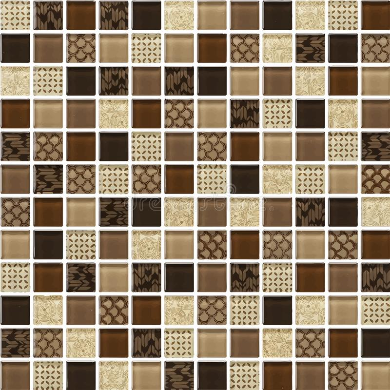 Schwarzes, Brown, nackt das wirkliche Foto der Fliesenwand-hohen Aufl?sung oder der Ziegelstein nahtlos und der Beschaffenheitsin vektor abbildung