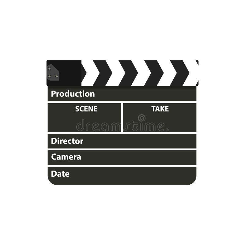 Schwarzes Clapperboard Film-Scharnierventil-Brett lizenzfreie abbildung