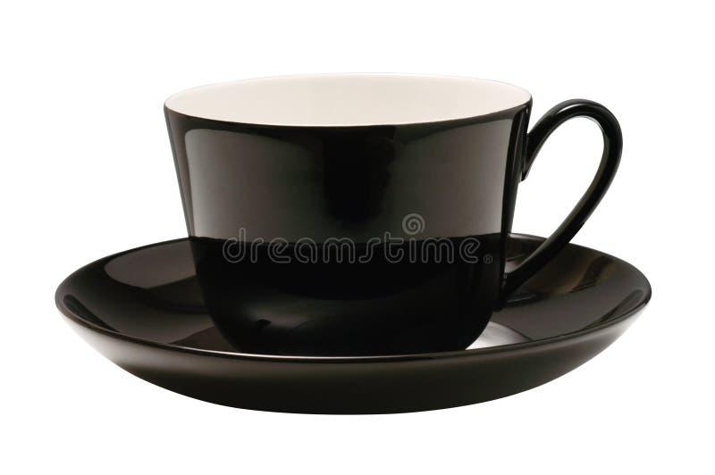 Schwarzes Cup getrennt lizenzfreie stockbilder