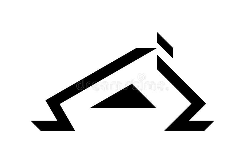 Schwarzes Deckungslogodesign, Vektorillustration stock abbildung