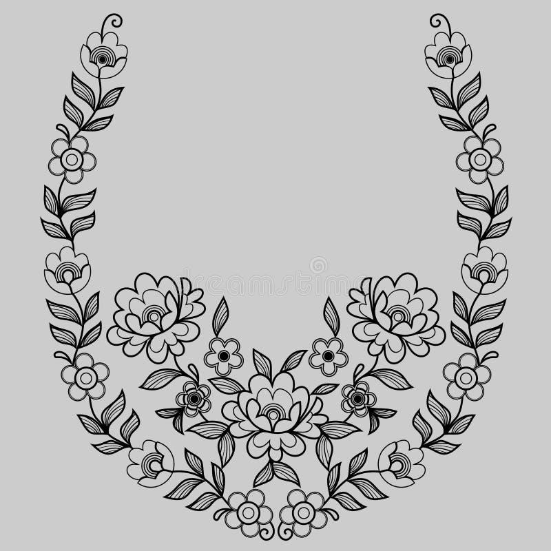 Schwarzes dekoratives Muster lizenzfreie abbildung