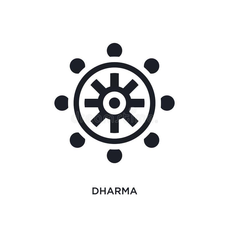 schwarzes dharma lokalisierte Vektorikone einfache Elementillustration von den Religionskonzept-Vektorikonen dharma editable Logo vektor abbildung