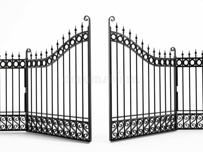 Schwarzes Eisen-Gatter stock abbildung