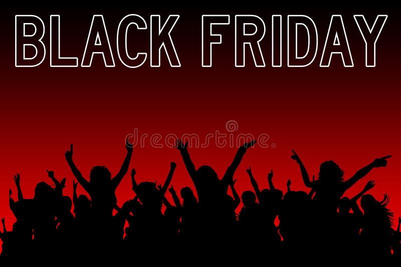 Schwarzes Freitag-Einkaufen lizenzfreie abbildung