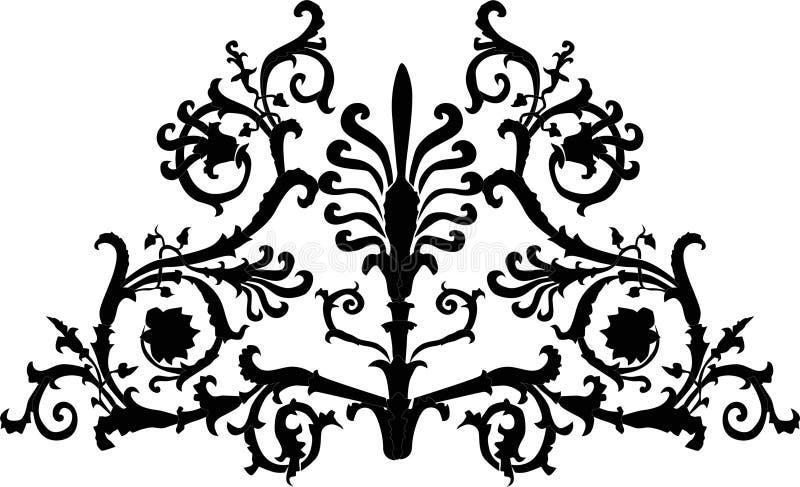 Schwarzes gekräuseltes Laub stock abbildung