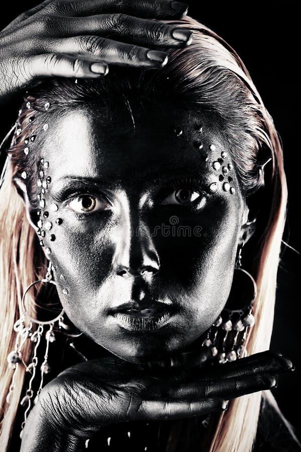 Schwarzes Gesicht stockfotos