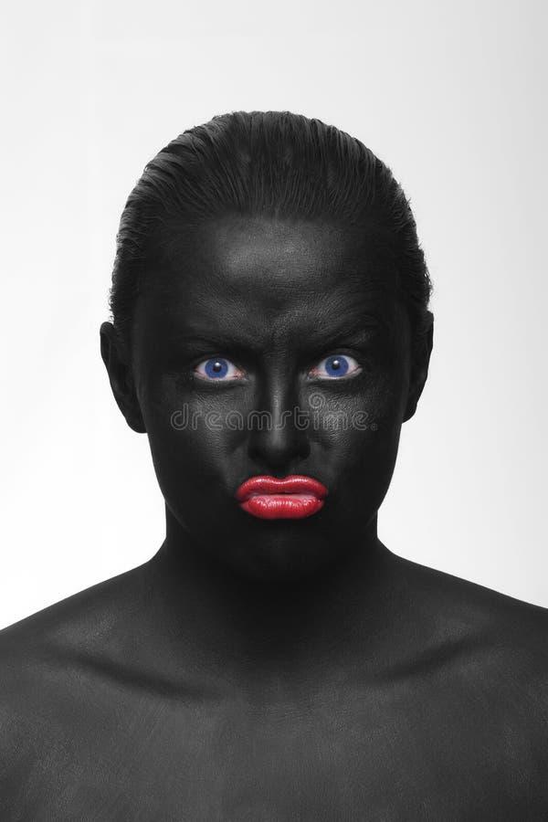 Schwarzes Gesicht stockbilder