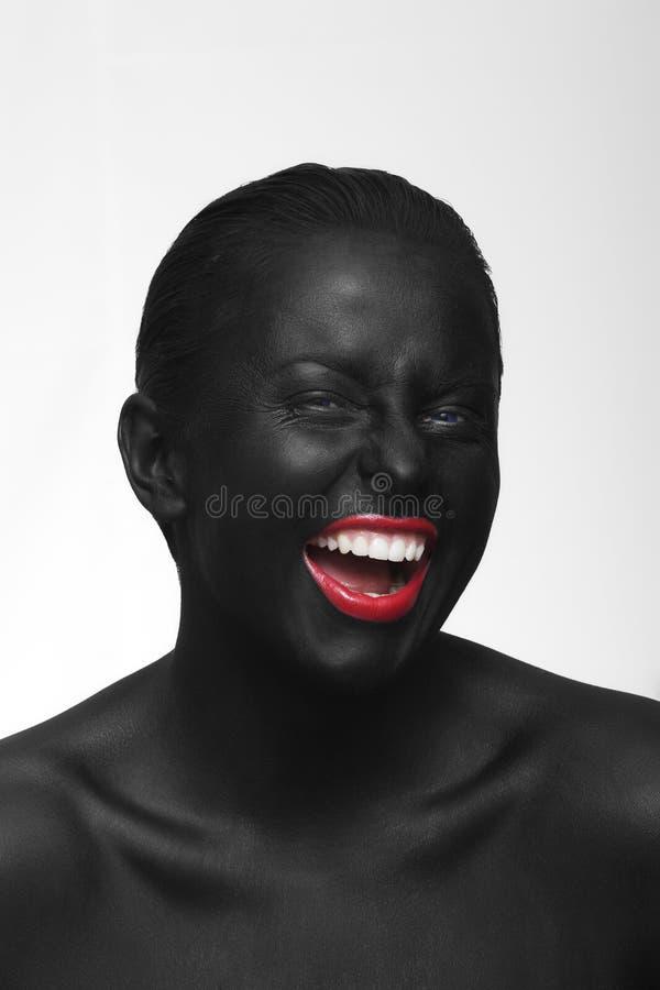 Schwarzes Gesicht lizenzfreie stockfotos