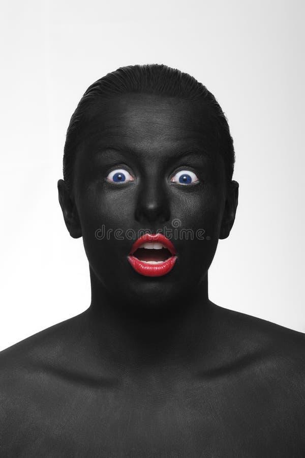 Schwarzes Gesicht lizenzfreies stockfoto