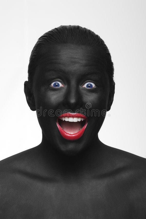 Schwarzes Gesicht lizenzfreie stockbilder