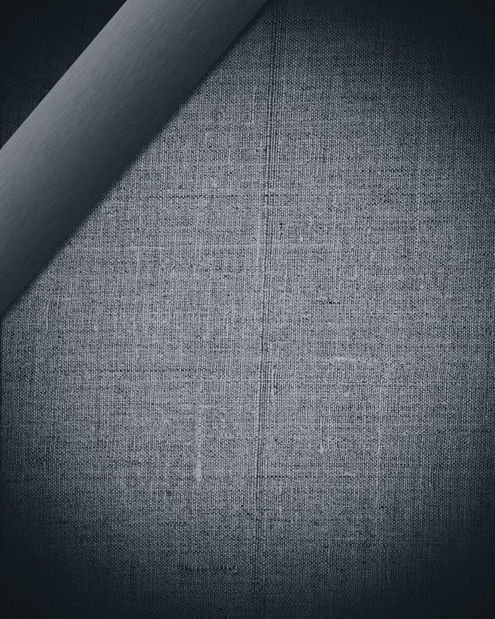 Schwarzes Gewebe mit dunklem Stab als Hintergrund zum zu konzipieren lizenzfreie abbildung