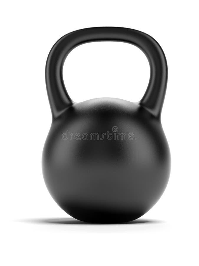 Schwarzes Gewicht stock abbildung