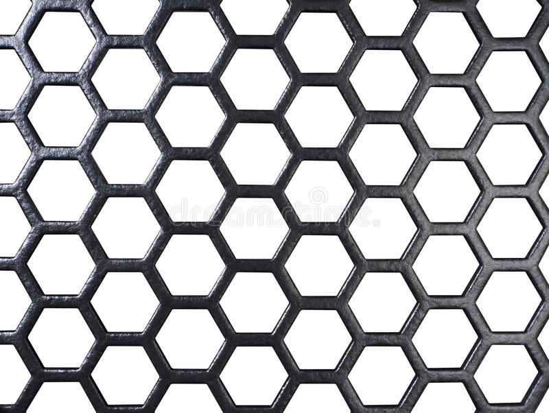 Schwarzes Gitter in der Weißrückseite lizenzfreies stockfoto