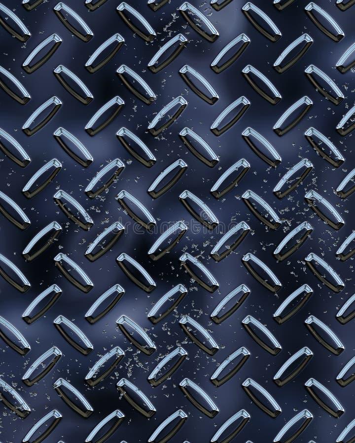 Schwarzes glänzendes Diamondplate lizenzfreie abbildung