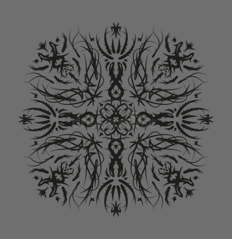 Schwarzes graues Muster stock abbildung