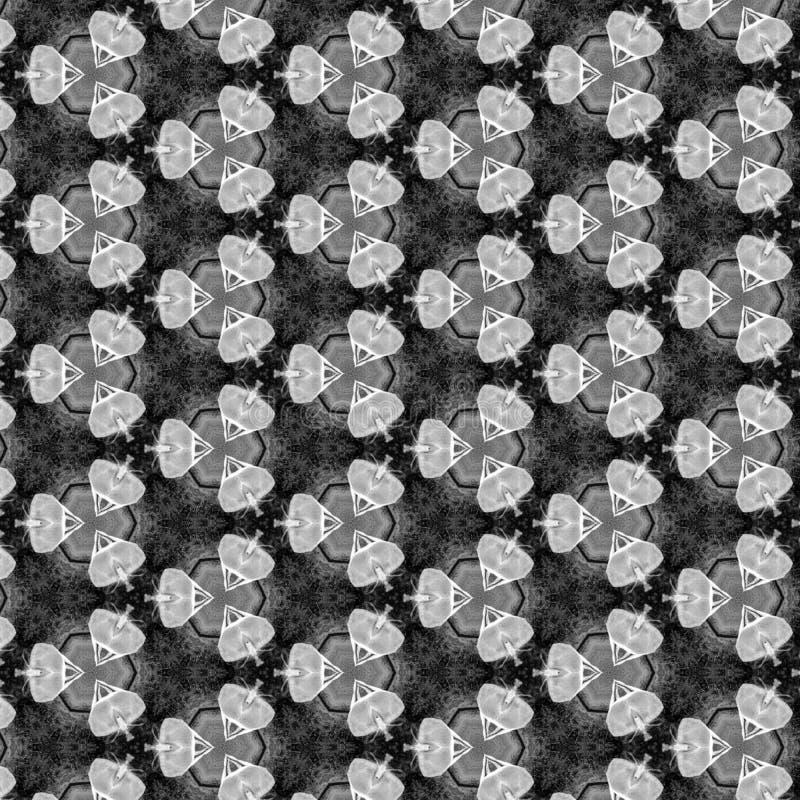 Schwarzes Gray And White Geometirc Abstract-Muster vektor abbildung