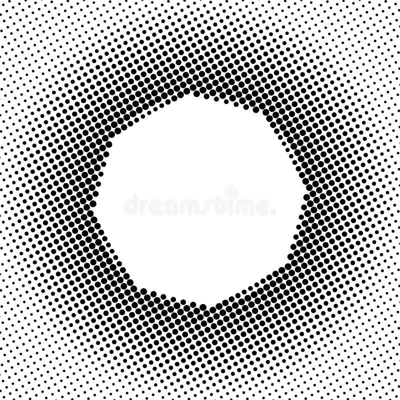Schwarzes Halbton Dots Pattern im weißen Hintergrund lizenzfreie abbildung