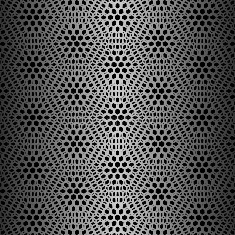 Schwarzes Hexagonmuster stockfotos