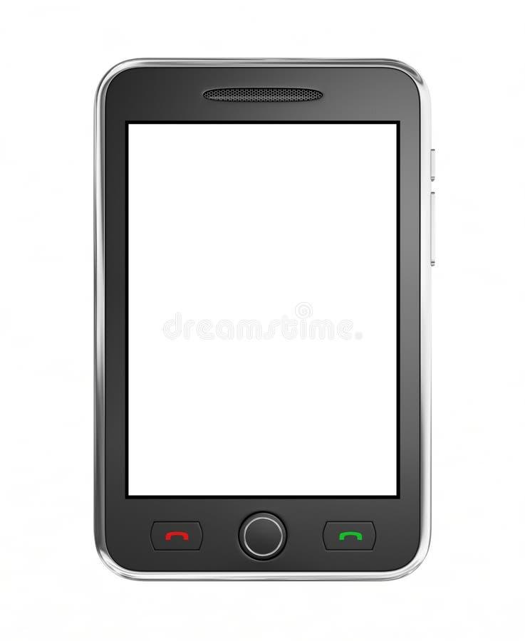Schwarzes intelligentes Mobiltelefon stock abbildung