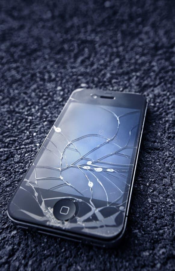 Schwarzes iPhone stockfotografie