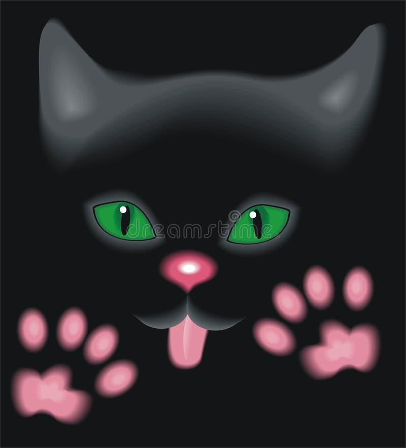Schwarzes Kätzchen stock abbildung