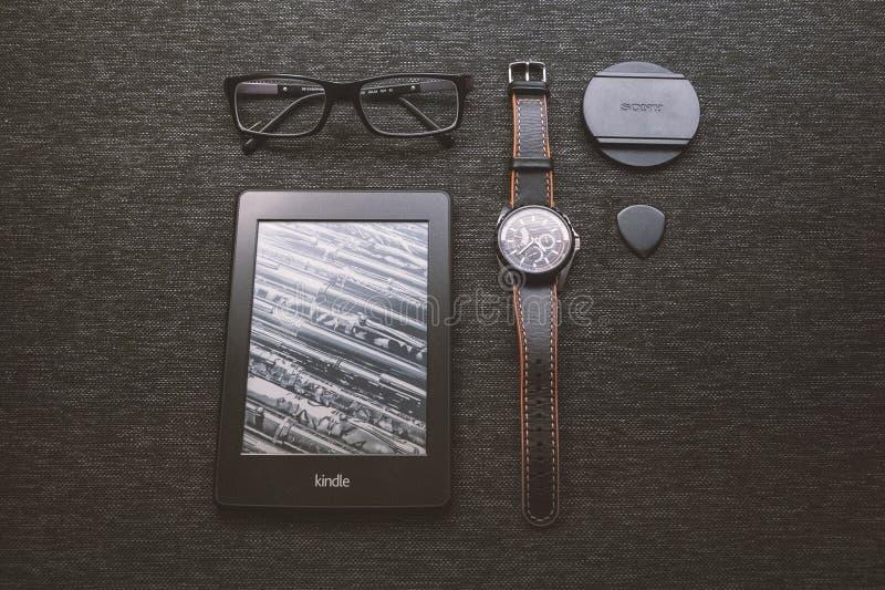 Schwarzes Kindle-tablet Eingeschaltet Kostenlose Öffentliche Domain Cc0 Bild